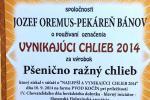 VYNIKAJÚCI CHLIEB 2014 - Pšenično ražný chlieb CECH pekárov a cukrárov RZS, Kočín 2014