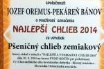 NAJLEPŠÍ CHLIEB 2014 - Pšeničný chlieb zemiakový CECH pekárov a cukrárov RZS, Kočín 2014